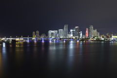 Miami city skyline Royalty Free Stock Photos
