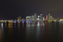 Miami city skyline Royalty Free Stock Images
