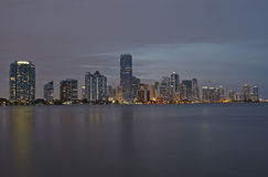 Miami city skyline Stock Images