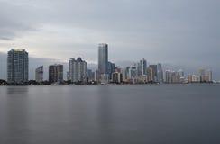 Miami city skyline Stock Image