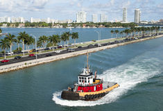 Miami City Tugboat Royalty Free Stock Photography