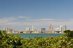 Miami city waterfront skyline Stock Photo