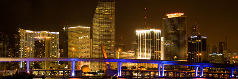 Miami Cityscape Royalty Free Stock Images