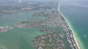 Miami coastline aerial 4K stock video footage