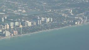 Miami coastline aerial view stock video