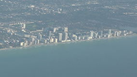 Miami coastline aerial view stock footage