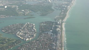 Miami coastline aerial view stock video footage