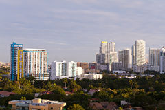 Miami Condos and Apartment Buildings Royalty Free Stock Image