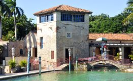 Venetian Pool is a historic U.S. public swimming pool royalty free stock photography