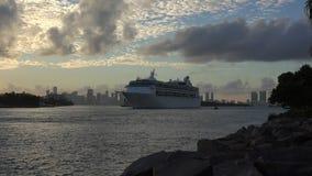 Miami Cruise Port timelapse. Miami Beach, Florida, USA stock footage