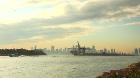 Miami Cruise Port timelapse. Miami Beach, Florida, USA stock video footage