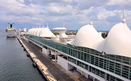 Miami Cruise Terminal Stock Photos
