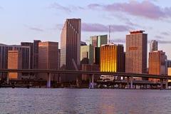 Miami da baixa Bayfront Imagens de Stock Royalty Free