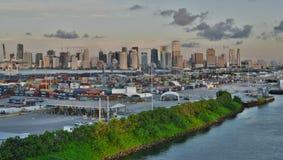 Miami da una barca Fotografie Stock