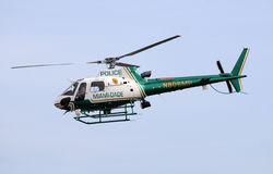 Miami Dade County police helicopter Stock Image