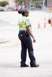 Miami Dade police officer in uniform Stock Image