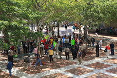 Miami-Dade Shelter Protest Stock Photo
