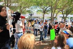 Miami-Dade Shelter Protest Royalty Free Stock Photos