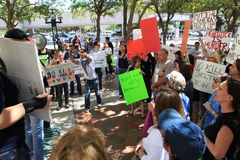 Miami-Dade Shelter Protest Stock Photography