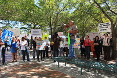 Miami-Dade Shelter Protest Royalty Free Stock Photography