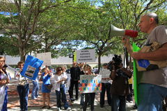Miami-Dade Shelter Protest Royalty Free Stock Image