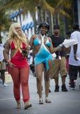 Meninas felizes em Miami Imagens de Stock