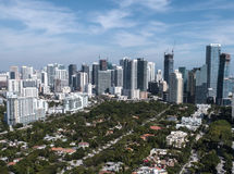 Miami de stad in Stock Afbeeldingen