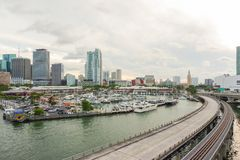 Miami de stad in van Dodge-Eiland royalty-vrije stock foto's