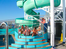 Miami, de V.S. - 12 Januari, 2014: Carnaval Glory Cruise Ship Stock Afbeelding