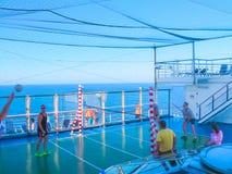 Miami, de V.S. - 12 Januari, 2014: Carnaval Glory Cruise Ship Royalty-vrije Stock Afbeelding