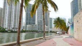 Miami del centro Brickell stock footage