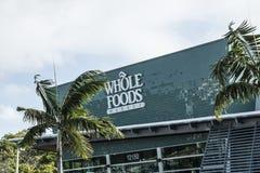 MIAMI DEL NORTE, FL, los E.E.U.U. - 17 de junio de 2017: Supermercado del mercado de Whole Foods fotos de archivo libres de regalías