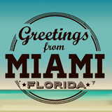 Miami-Design Lizenzfreies Stockbild