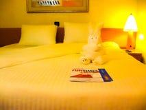 Miami, die Vereinigten Staaten von Amerika - 8. Januar 2014: Die Kreuzfahrt des Karnevals Glory Cruise Ship Stockfoto