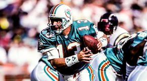 Dan Marino Miami Dolphins. Miami Dolphins hall of fame QB Dan Marino. image taken from color slide royalty free stock photo