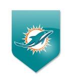 Miami dolphins team. Miami dolphins nfl team on white Stock Photos