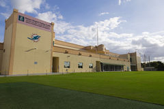 Miami Dolphins-Trainingsanlage - nur Leitartikel Stockfotos