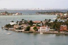 Miami door het Water stock fotografie