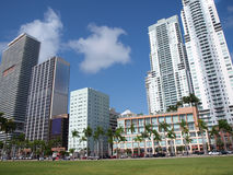 Miami downtown day scene Royalty Free Stock Photography