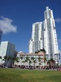 Miami downtown day scene Royalty Free Stock Photos