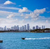 Miami downtown foggy skyline Miami Beach Stock Photography
