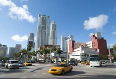 Miami Downtown Intersection Royalty Free Stock Photos