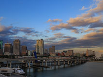 Miami downtown from miami port. Miami downtown cityscape from miami port Stock Images