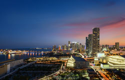 Miami downtown at night Royalty Free Stock Image