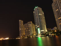 Miami downtown night scene Stock Images