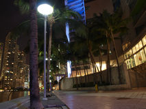Miami downtown night scene Royalty Free Stock Photos