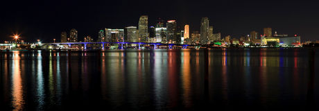 Miami Downtown Panorama Stock Photography