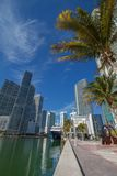 Miami downtown river cityscape along the Brickell area Royalty Free Stock Photo