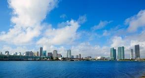 Miami downtown sunny skyline in Florida USA Royalty Free Stock Photo