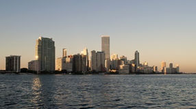 Miami Downtown Sunset Stock Photo